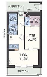 静岡県裾野市平松の賃貸マンションの間取り