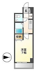 愛知県名古屋市中区金山3丁目の賃貸マンションの間取り