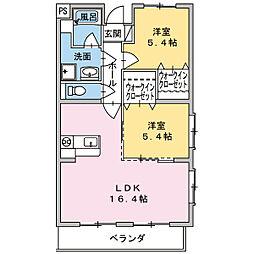 ラ フォレ[1階]の間取り