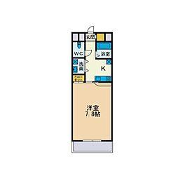 ドゥ・ソレイユ[1階]の間取り