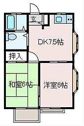 ディライト[2階]の間取り