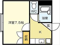 NO.23 ベイサイドアネックス[2階]の間取り