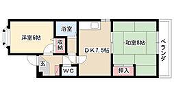 愛知県名古屋市南区柵下町2丁目の賃貸マンションの間取り