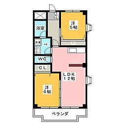 ファインアート間黒[2階]の間取り