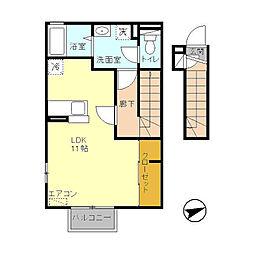 ファミネスIII[2階]の間取り