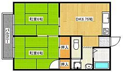 カーサ村井[102号室号室]の間取り