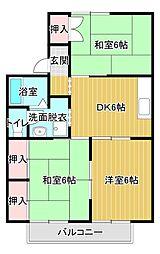 静岡県浜松市中区八幡町の賃貸アパートの間取り