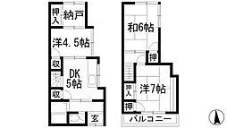 [テラスハウス] 兵庫県川西市霞ケ丘1丁目 の賃貸【/】の間取り