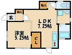 エターナルシー藤江II[1階]の間取り