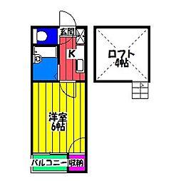 ローゼ博多駅南[2階]の間取り