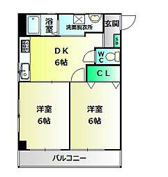 CUBE MAIKO[2階]の間取り
