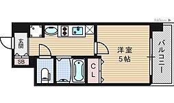 大阪府大阪市西区南堀江4丁目の賃貸マンションの間取り