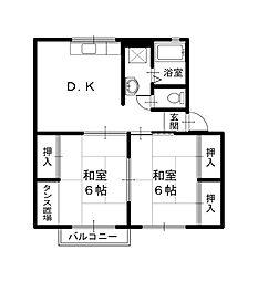 マリアージュI[2階]の間取り