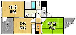 MIZUKI武庫之荘[3階]の間取り