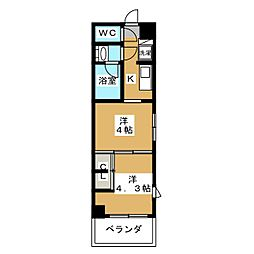 グランド・ガーラ東大島 11階2Kの間取り
