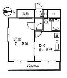 ソワレ・ド・ミノベ鶴見中央ビル[902号室]の間取り