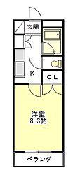 マンションハルカ[2階]の間取り