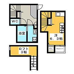 グランプラス箱崎II[1階]の間取り