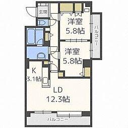 パークビュー46[4階]の間取り