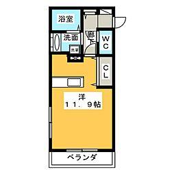 新築 四日市中川原アパート[1階]の間取り