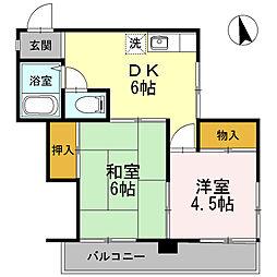 ガーデンテラス川崎[2階]の間取り
