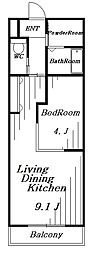 ウィズダム[2階]の間取り