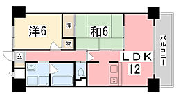高岡中村コーポII[505号室]の間取り