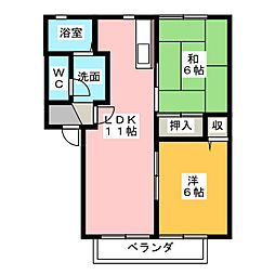 ハウスTMK A棟[2階]の間取り
