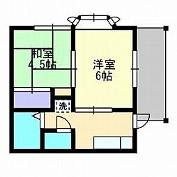 メゾンド七隈1[1階]の間取り