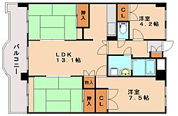 シャトレ博多南[6階]の間取り