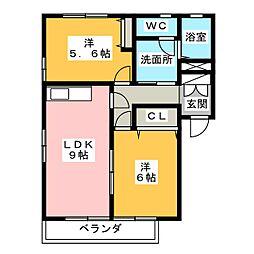 K's壱番館 弐番館[1階]の間取り