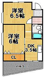 チェリーハイツ[3階]の間取り