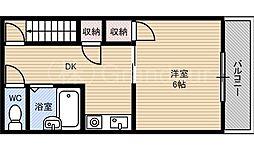 ナカムラマンション[3階]の間取り