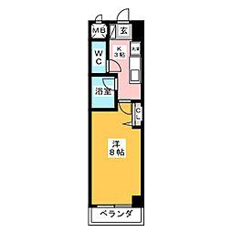 愛知県名古屋市中村区大日町の賃貸マンションの間取り