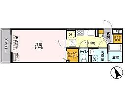 千葉県松戸市西馬橋幸町の賃貸アパートの間取り