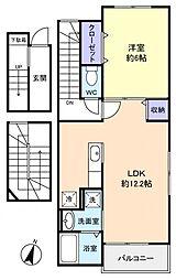 カーサベニーレD[3階]の間取り