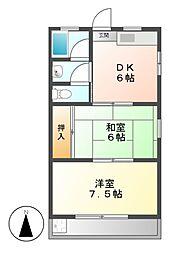 東和コーポ[3階]の間取り