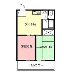 多恵第二ビル[3階]の間取り