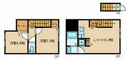 都営浅草線 馬込駅 徒歩9分の賃貸アパート 1階2LDKの間取り