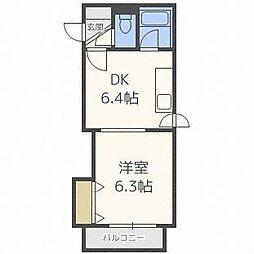 北26条マンション[4階]の間取り