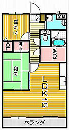 ジャスミンコート[1階]の間取り