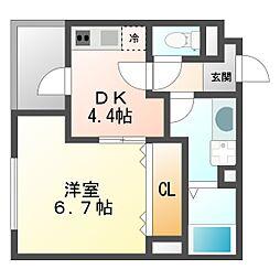 Casa大濠西[3階]の間取り