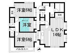 [一戸建] 東京都杉並区本天沼2丁目 の賃貸【/】の間取り