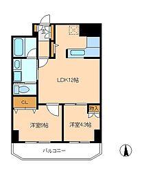 MH−IIビル[5階]の間取り