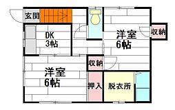 [テラスハウス] 大阪府茨木市見付山2丁目 の賃貸【大阪府 / 茨木市】の間取り