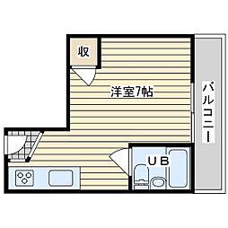 レジデンス茨木[3階]の間取り