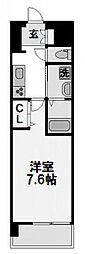 コンフォレスパ新大阪[605号室]の間取り
