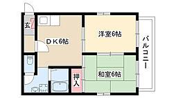 愛知県名古屋市南区鳥栖2丁目の賃貸アパートの間取り