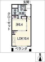 ミクニハイツ[2階]の間取り