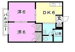 フレグランス竹田[A-101 号室号室]の間取り